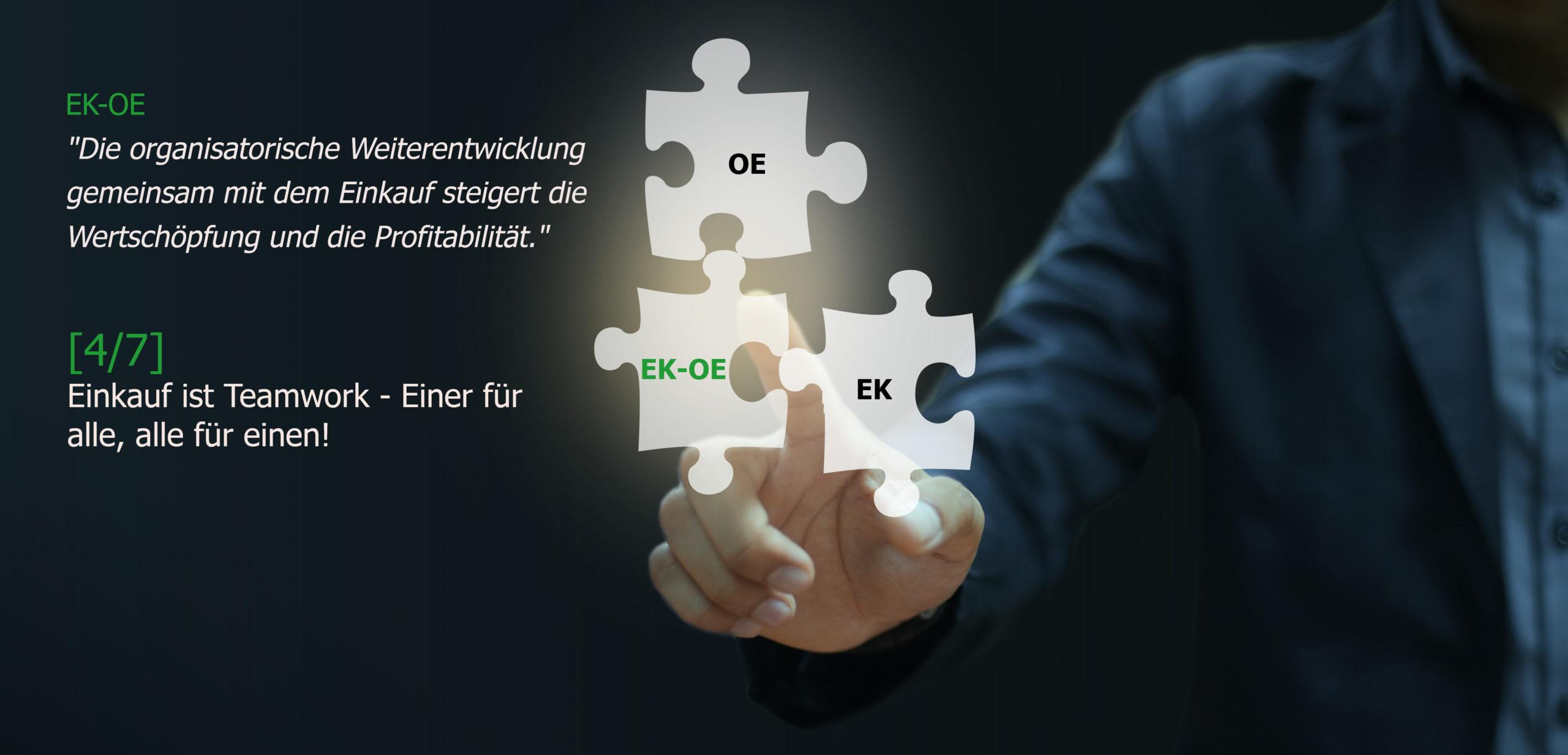 Einkauf ist Teamwork - Organisationsentwicklung, Einkaufsberatung, Change Coach, Coaching, Markus Kruse, Essen