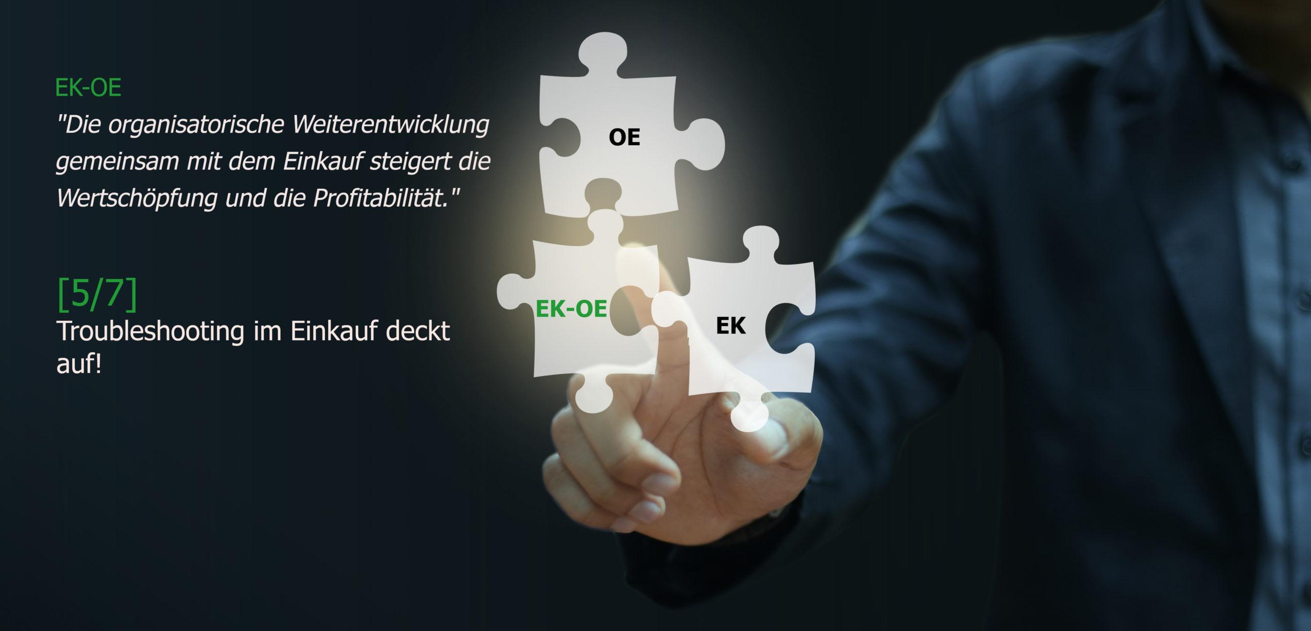 Troubleshooting Einkauf - Organisationsentwicklung, Einkaufsberatung, Change Coach, Coaching, Markus Kruse, Essen